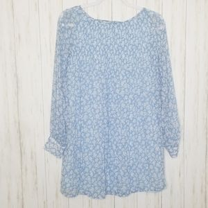 Kimchi Blue Floral Pintuck Chiffon Dress